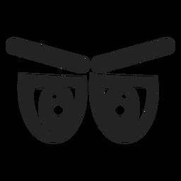 Ojos de emoticonos cansados