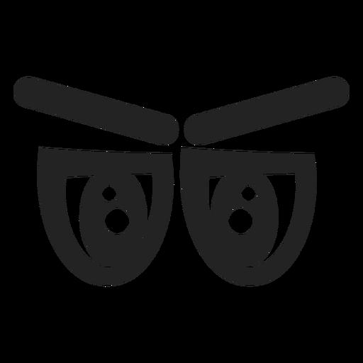 Ojos de emoticonos cansados Transparent PNG