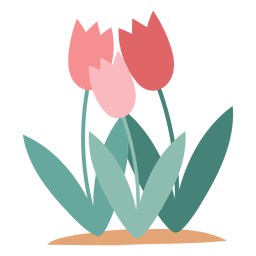 Elemento de flores de tulipa