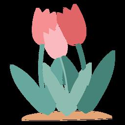 Elemento de flores de tulipán