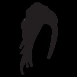 Ícone de cabelo de topete torcido