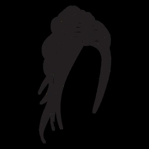 Ícone de cabelo de topete torcido Transparent PNG