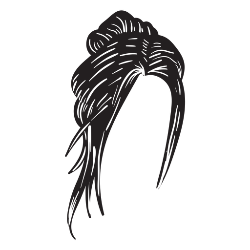 Twisted topknot hair icon Transparent PNG