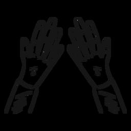 Duas mãos doodle