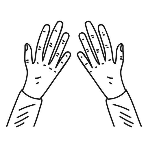 Two hands doodle Transparent PNG
