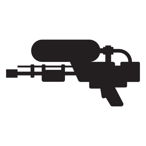 Water blaster silhouette Transparent PNG