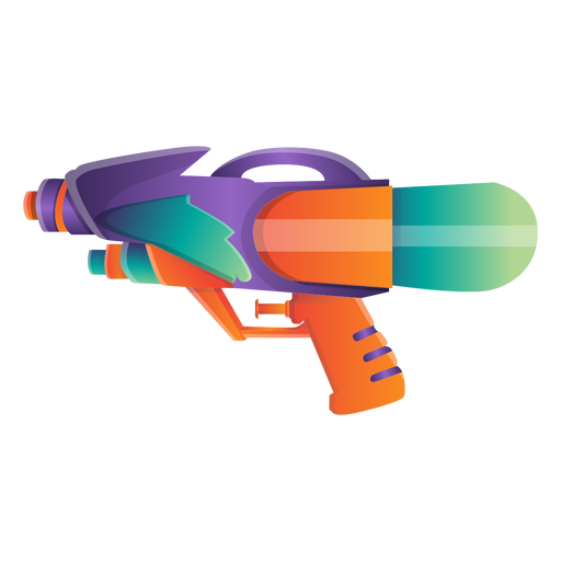 Wasserpistole-Symbol Transparent PNG