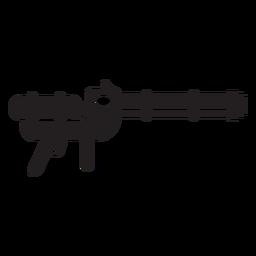 Pistola de agua juguete plano icono