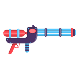Water gun toy icon