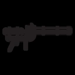 Silhueta de brinquedo de arma de água