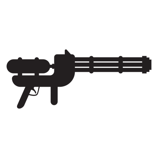 Water gun toy silhouette Transparent PNG
