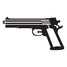 Pistola de agua blanco y negro