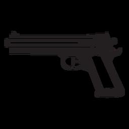 Pistola de água preto e branco