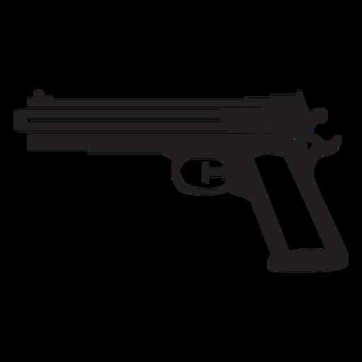 Pistola de agua en blanco y negro