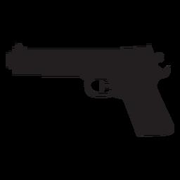 Silhueta de pistola de água