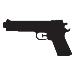 Silueta de pistola de agua