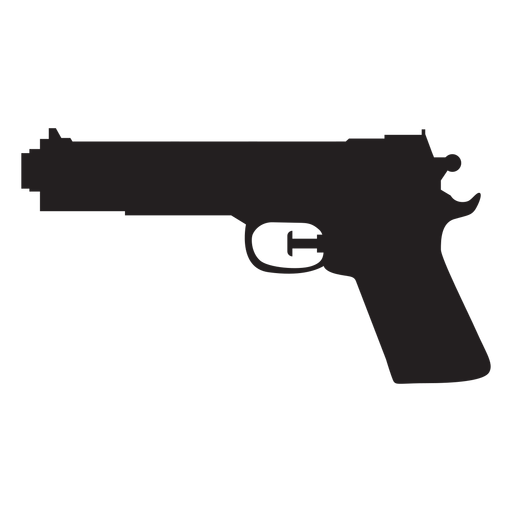 Silhueta de pistola de água Transparent PNG