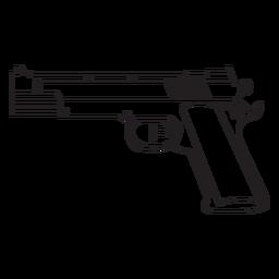 Wasserpistole Schlaganfall-Symbol