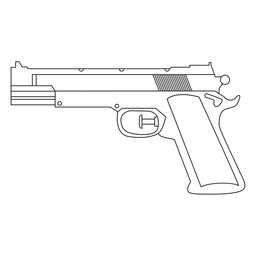 Water pistol stroke icon