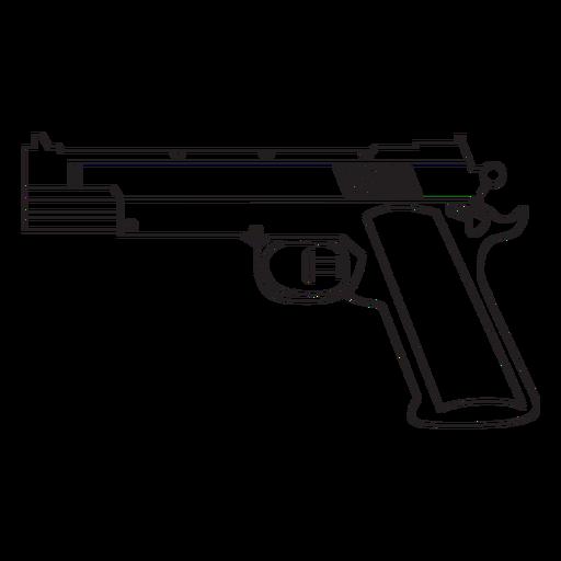 Wasserpistole Schlaganfall-Symbol Transparent PNG