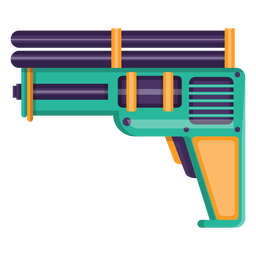Water pistol toy icon