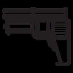 Silhueta de brinquedo de pistola de água