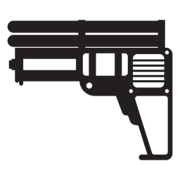 Water pistol toy silhouette