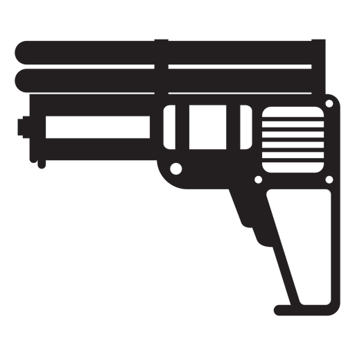 Water pistol toy silhouette Transparent PNG