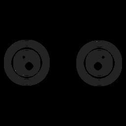 Ojos abiertos de emoticonos kawaii