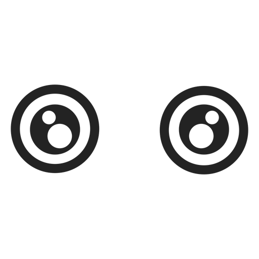 Olhos de emoticon kawaii bem abertos Transparent PNG