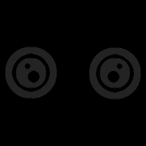 Weit offene kawaii Emoticon Augen Transparent PNG