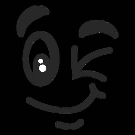 Cara de emoticon guiño