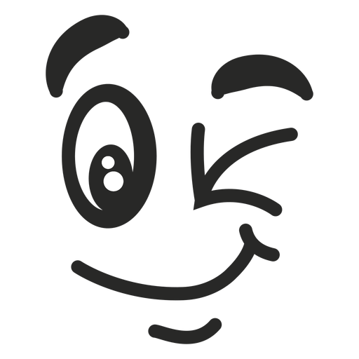 Wink emoticon face Transparent PNG