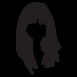 Mujer pelo plano