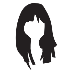 Woman hair flat