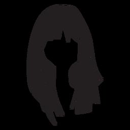 Mulher cabelo ícone