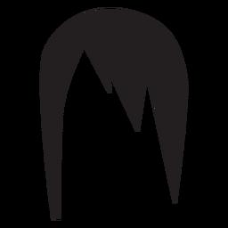 Silueta de mujer peinado