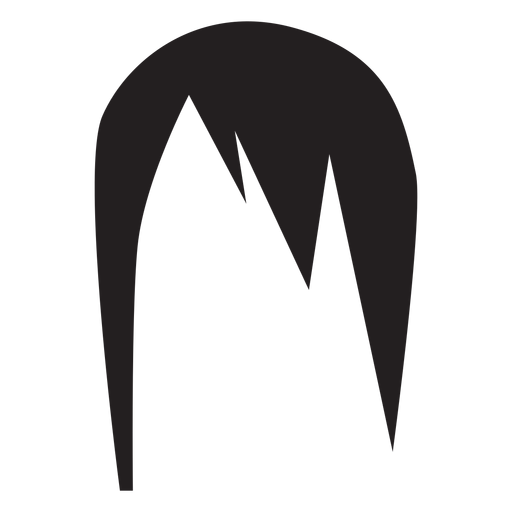 Woman hairstyle silhouette