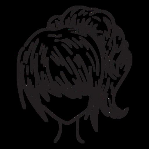 Mão de rabo de cavalo de mulher desenhada Transparent PNG