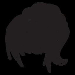 Icono de pelo de mujer cola de caballo