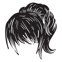 Mulher, rabo-de-cavalo, cabelo, ícone