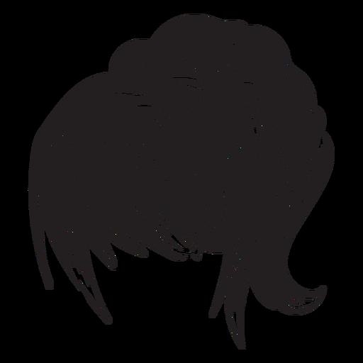 Icono de pelo de mujer cola de caballo Transparent PNG