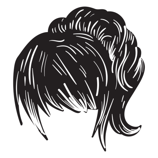 Woman ponytail hair icon Transparent PNG
