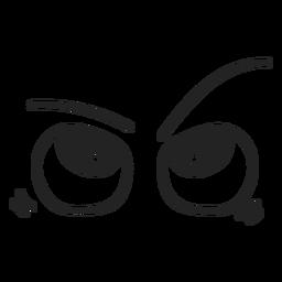 Ich wundere mich über Emoticon-Augen