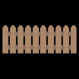 Icono de valla decorativa de madera