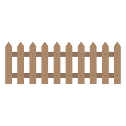 Wooden decorative fence icon