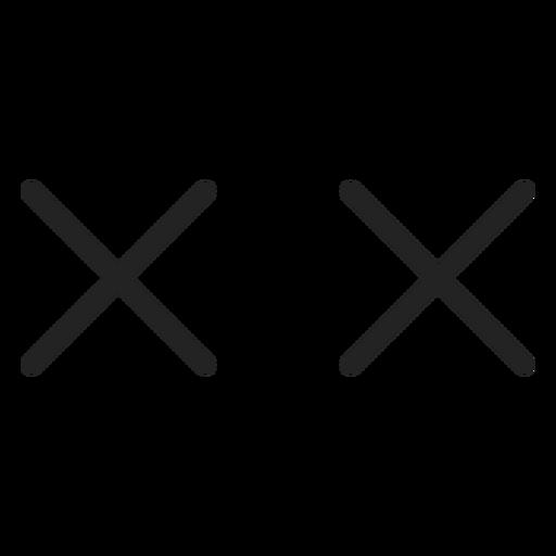 Ojos cruzados de emoticonos x Transparent PNG