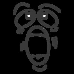 Gritando desenhos animados de rosto de emoticon