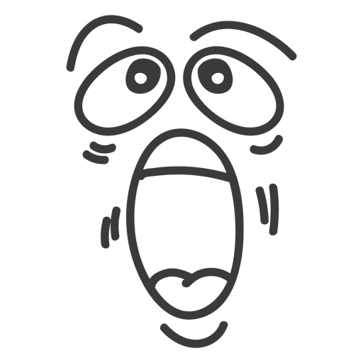 Yelling emoticon face cartoon Transparent PNG