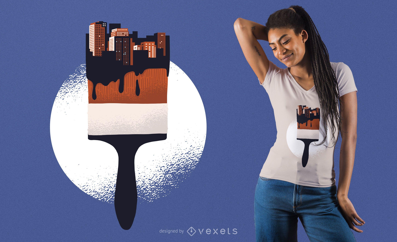 Urban Paint Brush T-Shirt Design